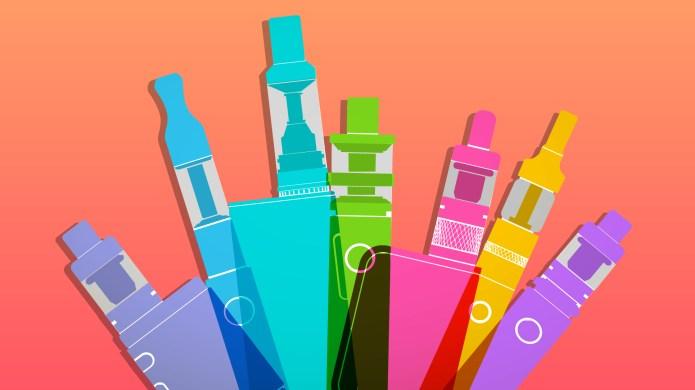 Colorful E-cigarettes for vaping