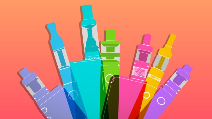 Colorful E-cigarettes for vaping