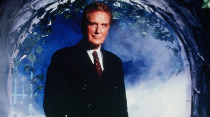 Robert Stack as host of 'Unsolved