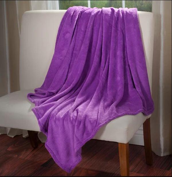 Vibrant Fleece Throw Blanket