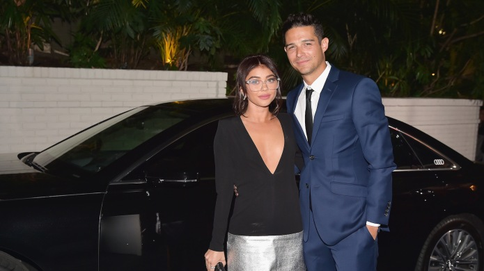 Sarah Hyland and Wells Adams attend