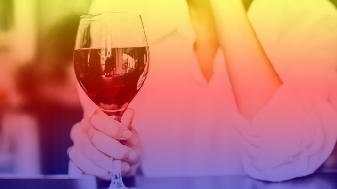 graphic of woman holding wine glass