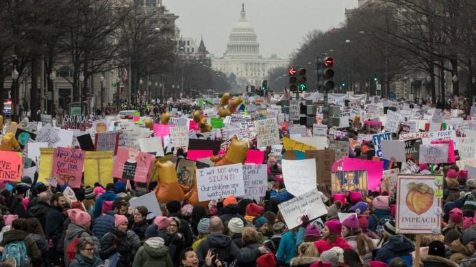WASHINGTON,DC-JAN19: The Women's March, January 19th,