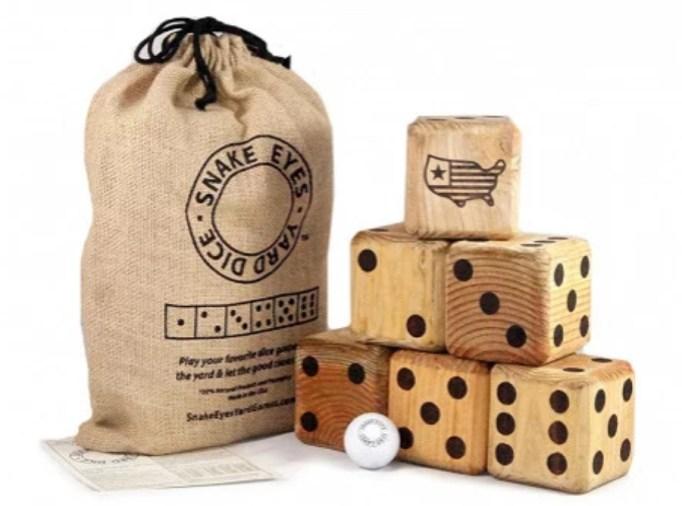 Yard dice game.