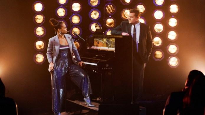 Alicia Keys & James Corden on