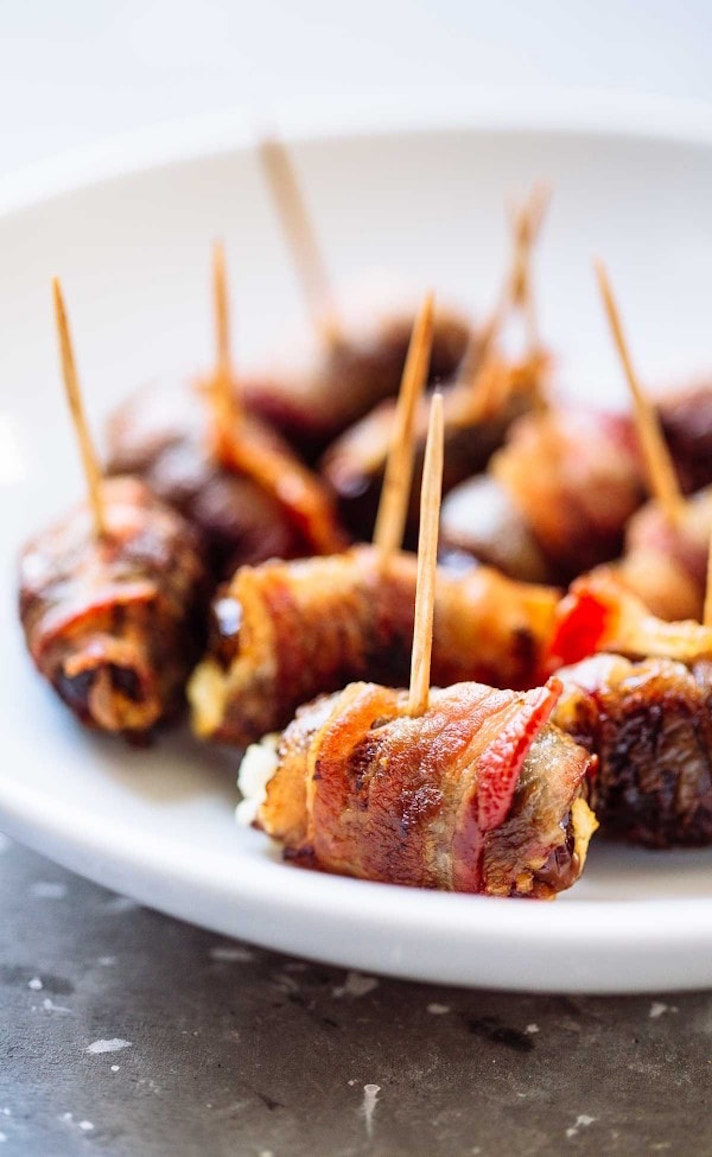 15 Easy, Elegant Appetizer Ideas for Your Oscars Viewing Party: Bacon-Wrapped Dates With Goat Cheese