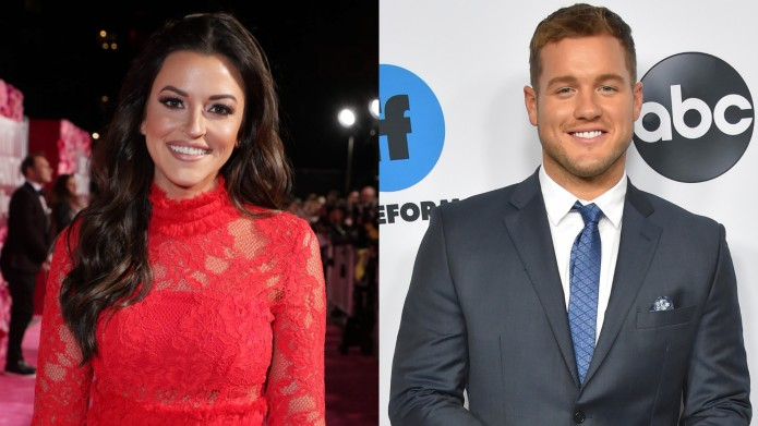 Tia Booth and Colton Underwood collage