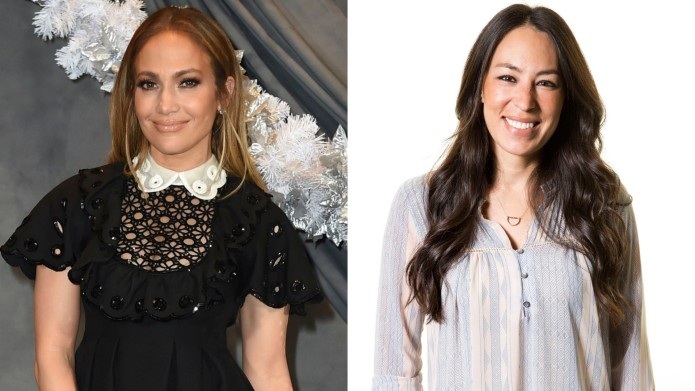 Jennifer Lopez and Joanna Gaines collage