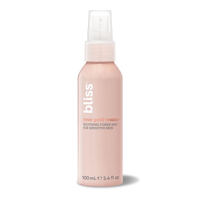 Bliss Rose Gold Rescue Soothing Toner Mist for Sensitive Skin