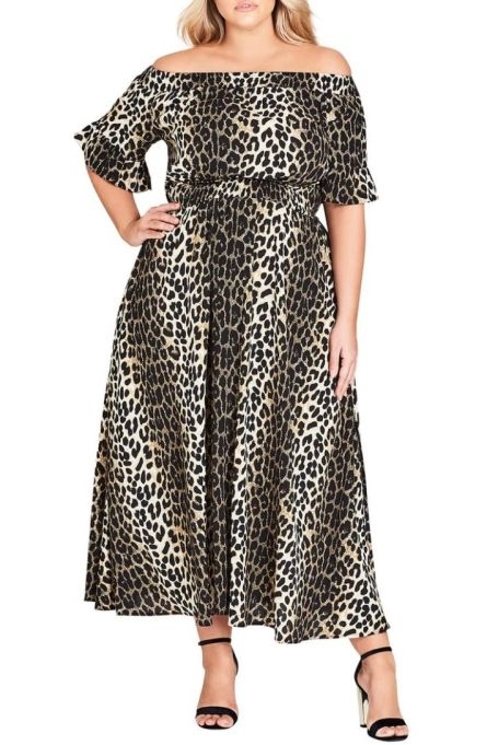 City Chic Animal Essence Maxi Dress