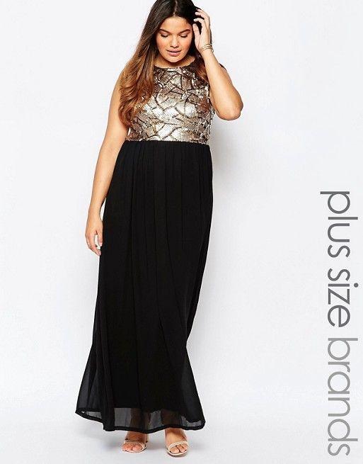 Club L Maxi Dress with Sequin Top