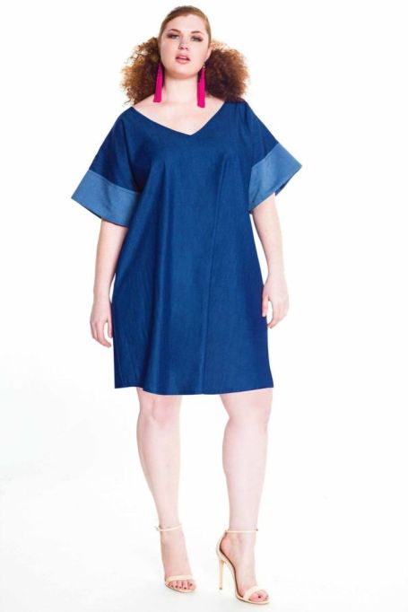 Denim Mini Tunic Dress