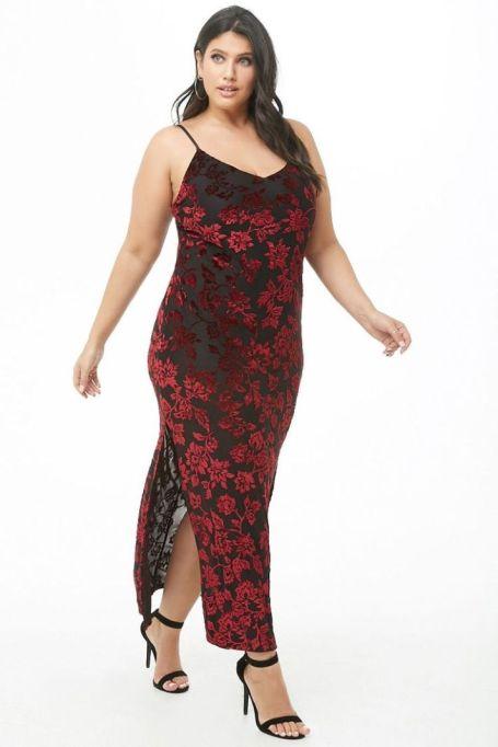 Floral Velvet Maxi Dress