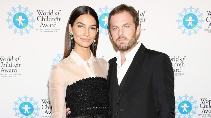 photo of Lily Aldridge and Caleb Followill