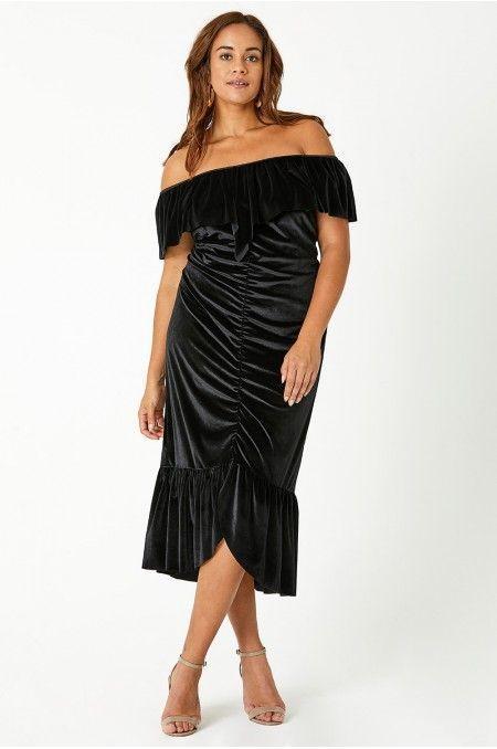 Heather Ruched Velvet Bodycon Dress