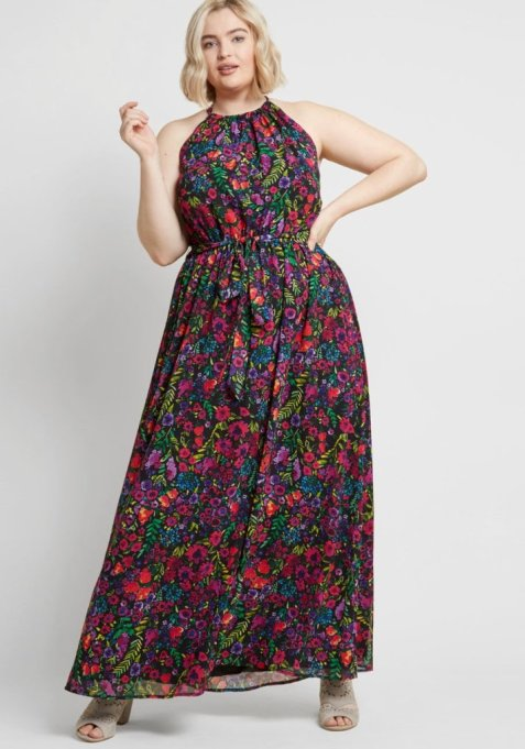 Illuminated Elegance Chiffon Maxi Dress