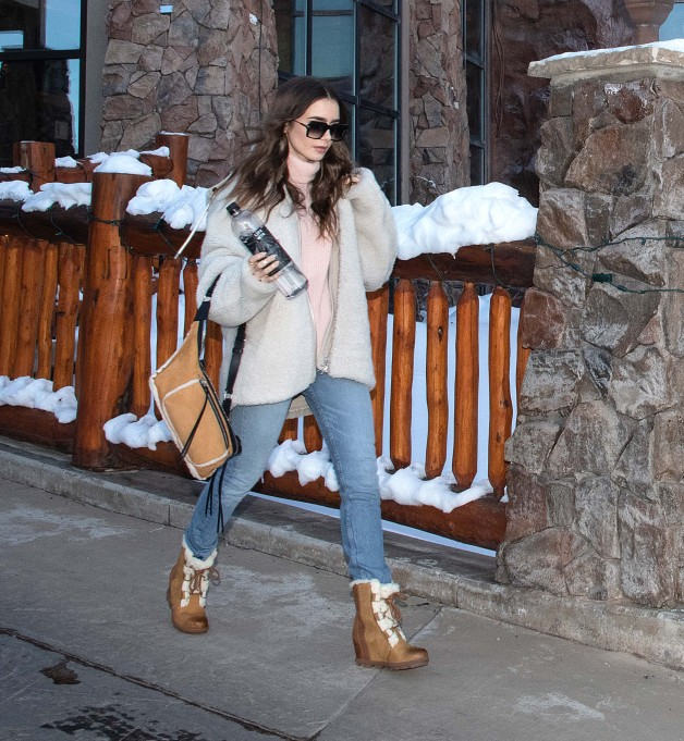 - Park City, UT - 01/26/2019 - Lily Collins spotted with LIFEWTR while at the Sundance Film Festival in Park City, Utah. -PICTURED: Lily Collins -PHOTO by: Sophie Fritz/startraksphoto.com -MS59298 Editorial - Rights Managed Image - Please contact www.startraksphoto.com for licensing fee Startraks Photo Startraks Photo New York, NY For licensing please call 212-414-9464 or email sales@startraksphoto.com Image may not be published in any way that is or might be deemed defamatory, libelous, pornographic, or obscene. Please consult our sales department for any clarification or question you may have Startraks Photo reserves the right to pursue unauthorized users of this image. If you violate our intellectual property you may be liable for actual damages, loss of income, and profits you derive from the use of this image, and where appropriate, the cost of collection and/or statutory damages.