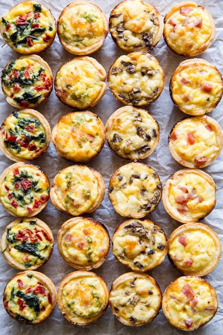 15 Easy, Elegant Appetizer Ideas for Your Oscars Viewing Party: Mini Quiche