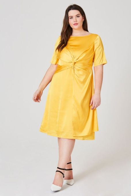 OLA Twist Detail Dress