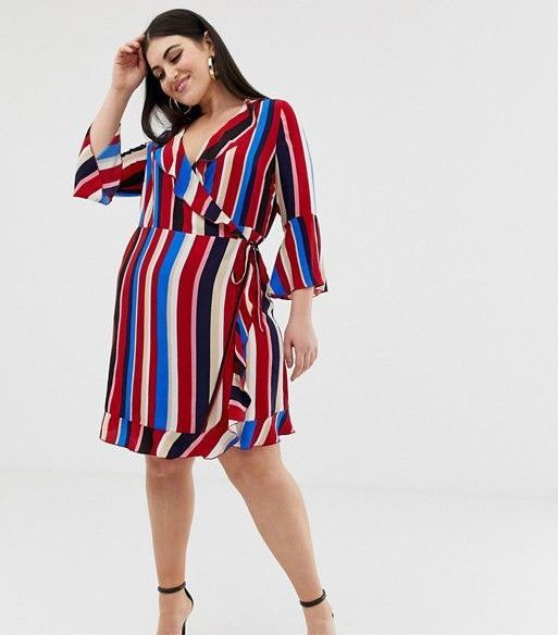 Outrageous Fortune Ruffle Wrap Dress