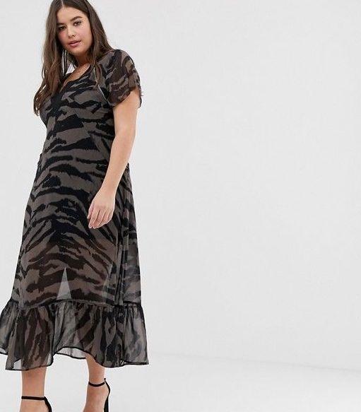 Religion Maxi Dress in Zebra