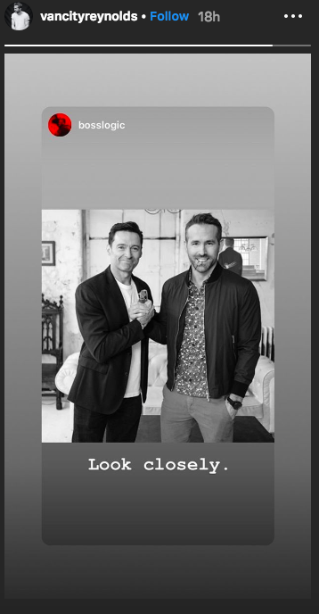 Fan edit of Ryan Reynolds and Hugh Jackman's truce photo