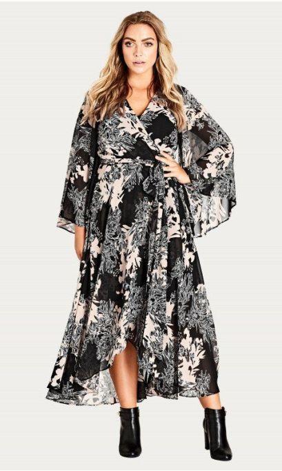 Shadow Floral Maxi Dress