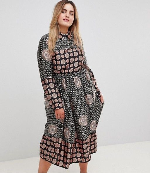 Uttam Boutique Long Sleeve Printed Dress