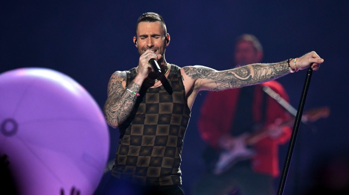 Adam Levine performs with Maroon 5