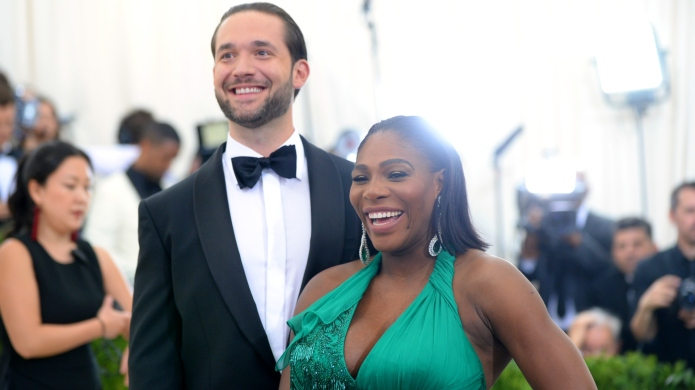 Alexis Ohanian and Serena Williams.