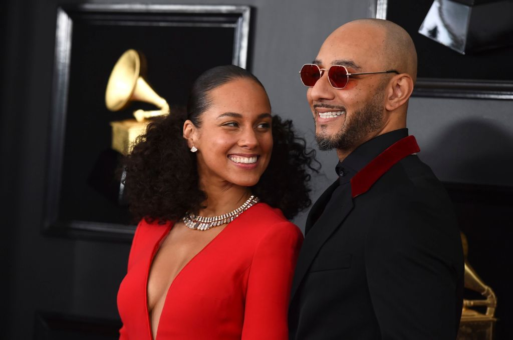 Alicia Keys, Swizz Beatz. Alicia Keys, left, and Swizz Beatz arrive at the 61st annual Grammy Awards at the Staples Center, in Los Angeles 61st Annual Grammy Awards - Arrivals, Los Angeles, USA - 10 Feb 2019