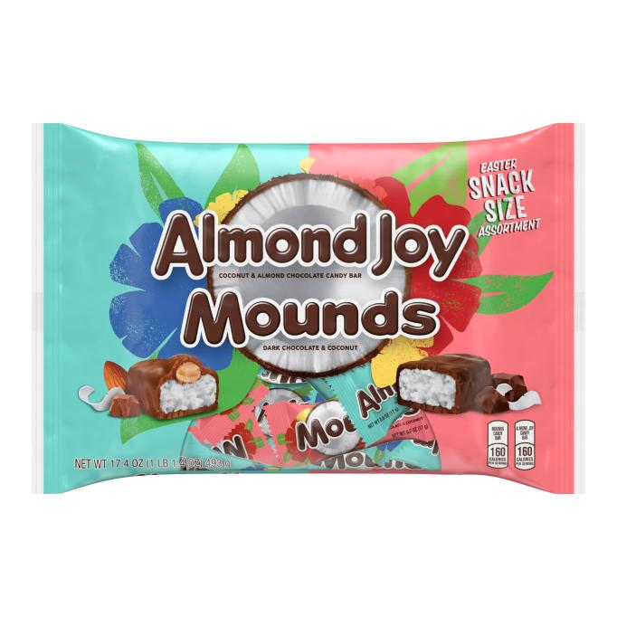 Almond Joy Mounds Easter Chocolate Candy Snack Size