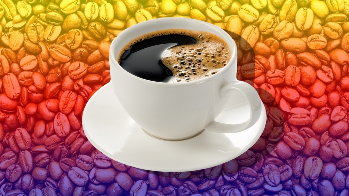 roasted coffee beans, can be used