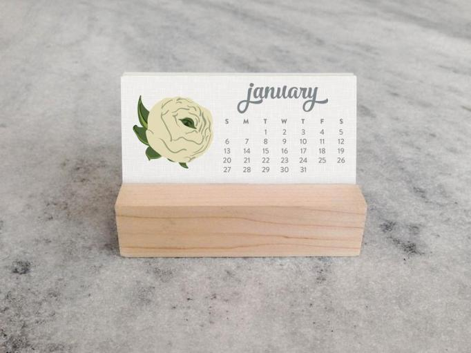 Wildflower desk calendar
