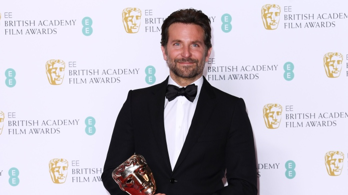 Bradley Cooper accepts the BAFTA for