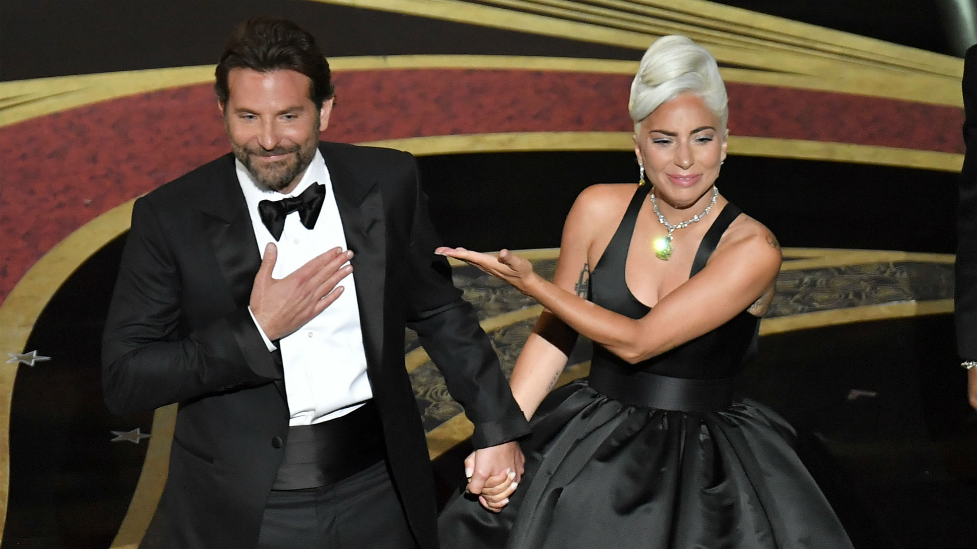 Photo of Bradley Cooper and Lady Gaga at the Oscars 2019