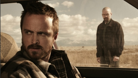 Aaron Paul and Bryan Cranston in