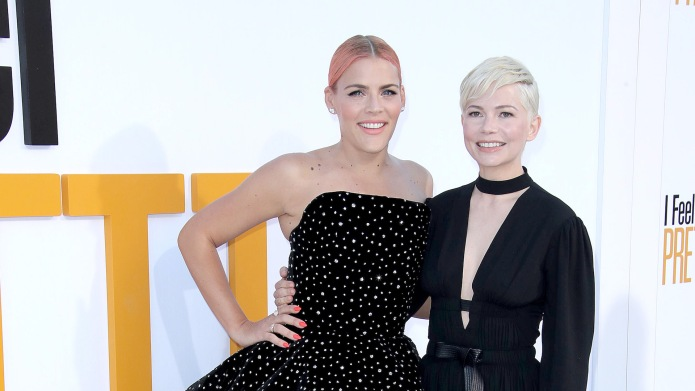 Busy Philipps and Michelle Williams arrive