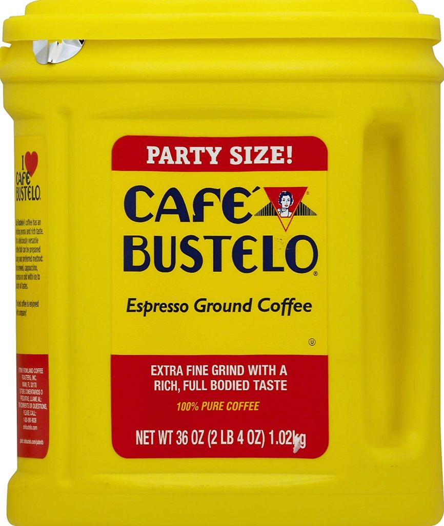Cafe Bustelo grocery store coffee.