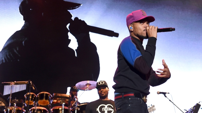 Chance The Rapper performs onstage during 'Mac Miller: A Celebration Of Life' Concert Benefiting The Launch Of The Mac Miller Circles Fund at The Greek Theatre on October 31, 2018 in Los Angeles, California.