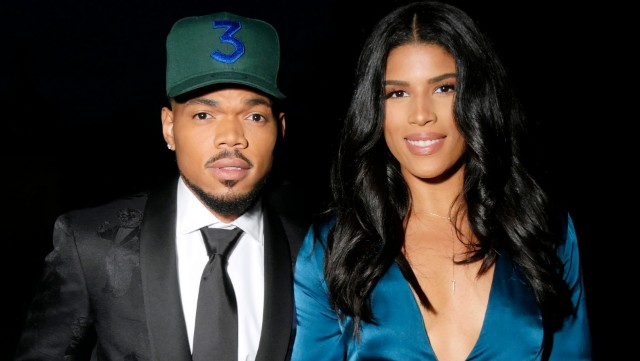 Chance the Rapper and Kirsten Corley at the Ralph Lauren show, Dinner and Cocktais, Spring Summer 2019