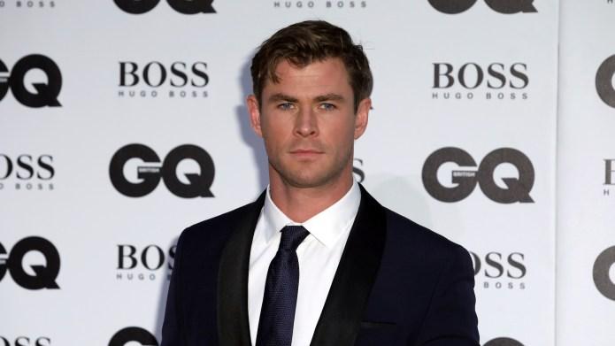 Chris Hemsworth arrives at the British
