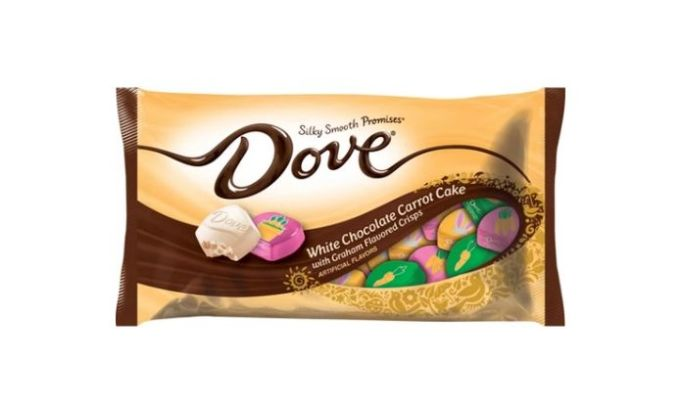 Dove Easter White Chocolate Carrot Cake