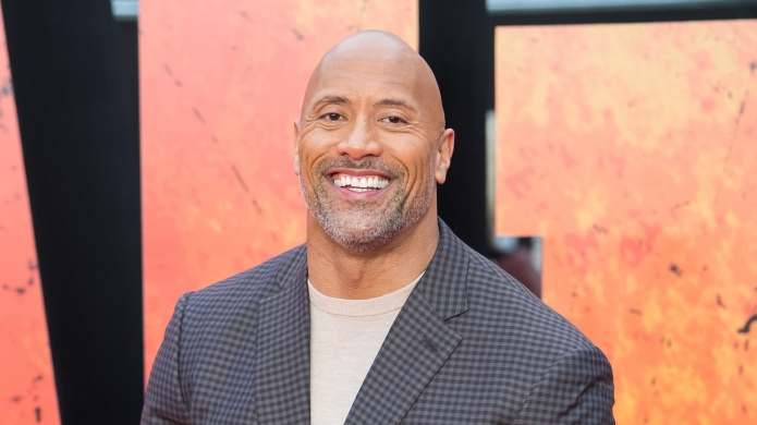 Dwayne 'The Rock' Johnson arrives at