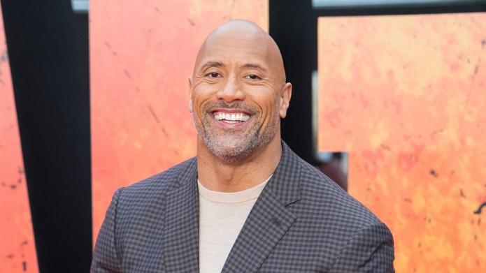 Dwayne 'The Rock' Johnson arrives at
