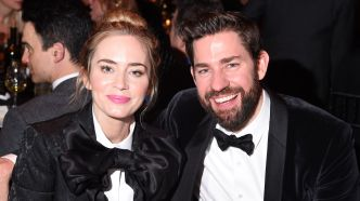 Emily Blunt and John Krasinski attend