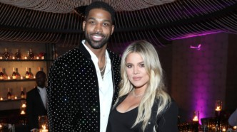 Khloe Kardashian and Tristan Thompson at