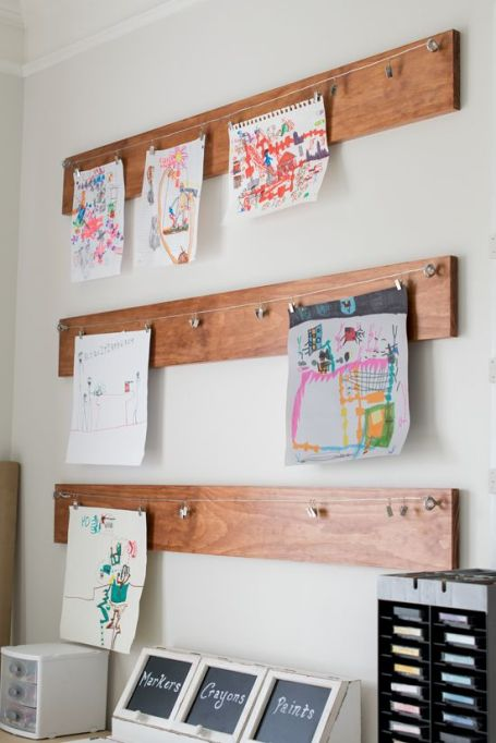 A Wooden Wall Art Display