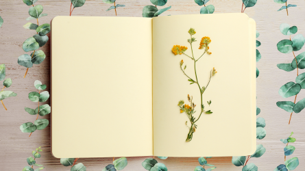 Spring flower notebook