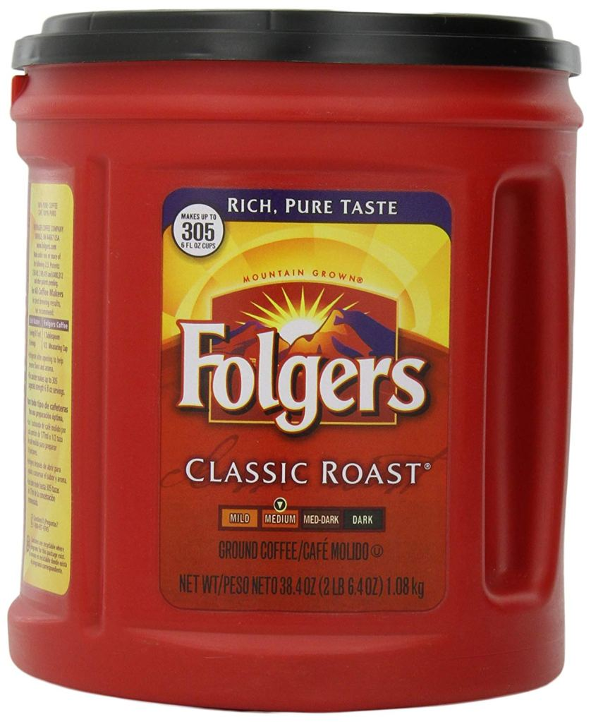 Folgers grocery store coffee.